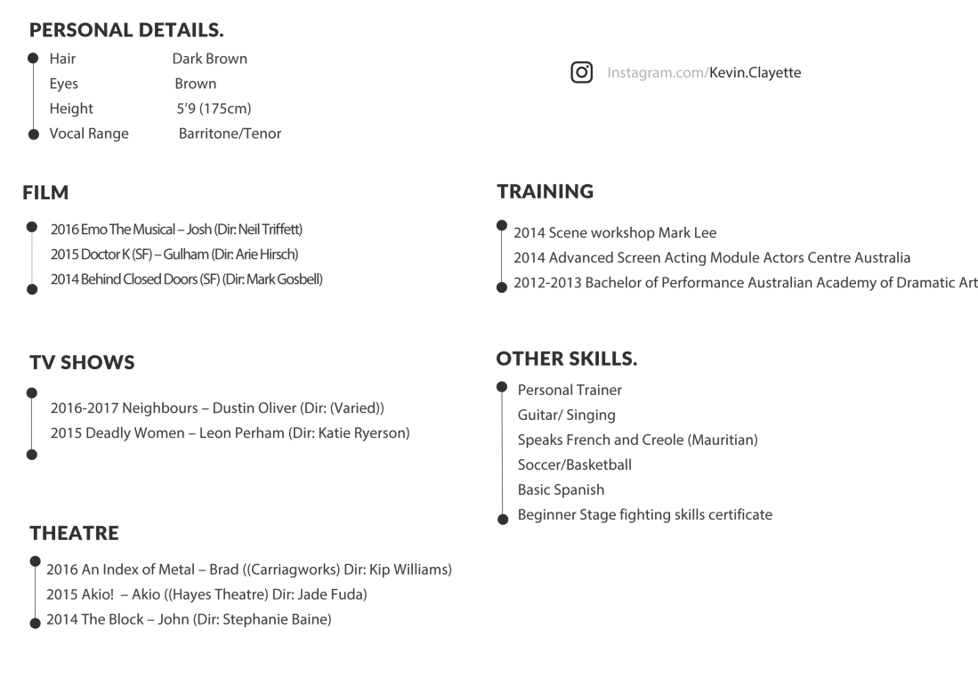 Resume – KEVIN CLAYETTE